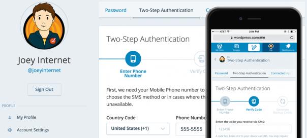 WordPress.com : Activation de la double authentification