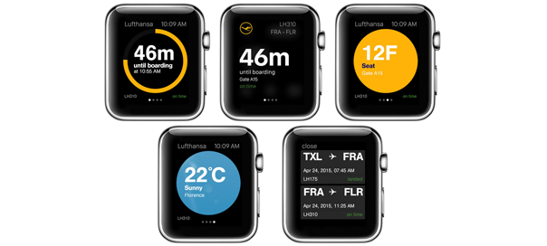 Lufthansa débarque sur l'Apple Watch