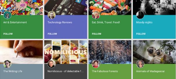 Google+ : Lancement de la fonctionnalité «Collections»