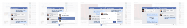 Facebook : Paiement par conversation multiple