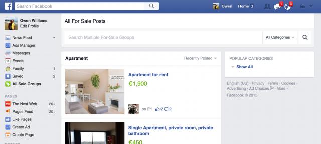 Facebook : Petites annonces