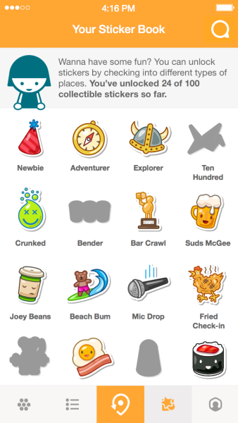 Fourquare : Stickers Swarm