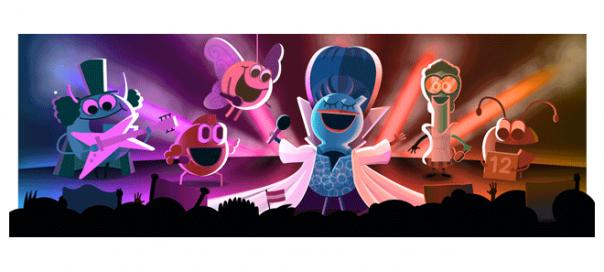 Google : Concours Eurovision de la chanson en doodle