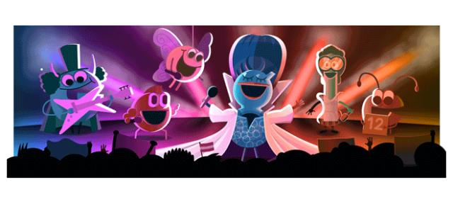 Google : Doodle Concours Eurovision de la chanson