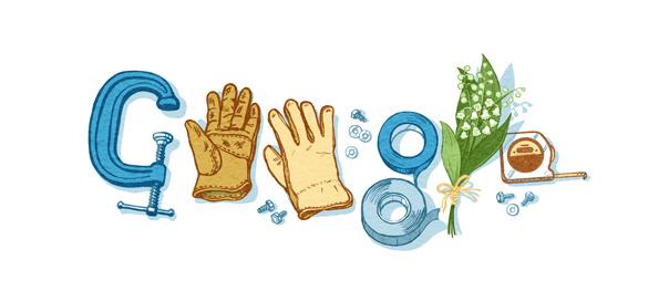 Google : Doodle fête du travail 2015