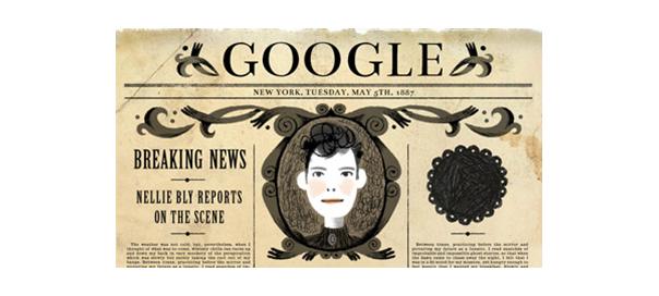 Google : Doodle Nellie Bly