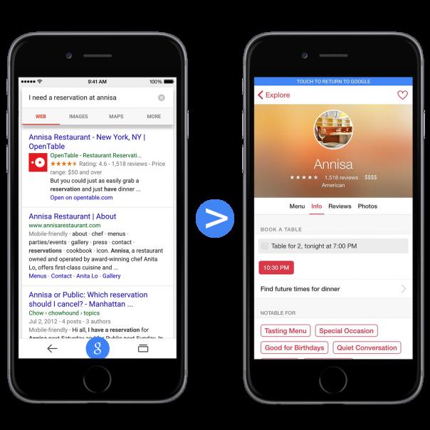 Google : Indexation d'application iOS