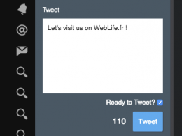 TweetDeck : Confirmation step