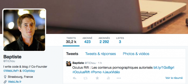 Twitter : Disparition des abonnements (followings)
