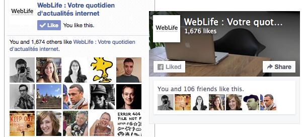Facebook : Like Box & Page Plugin