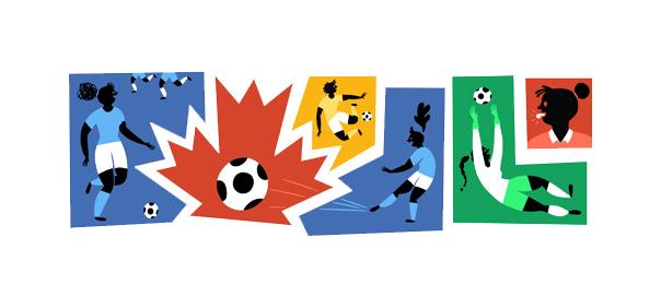 Google : Doodle Coupe du Monde féminine de foot