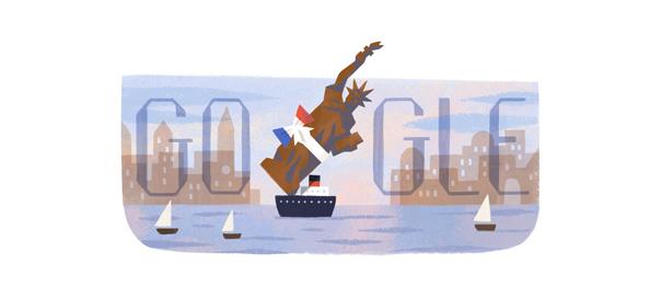 Google : Doodle Statue de la Liberté