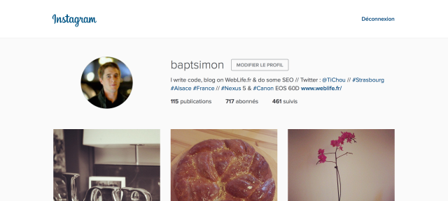 Instagram : Nouvelle interface