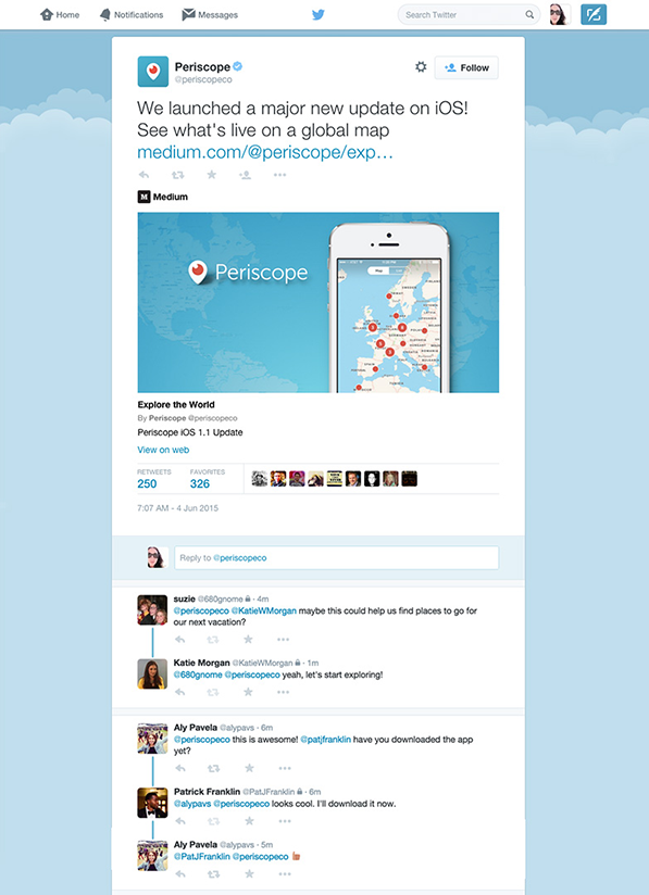 Twitter : Conversations de tweet