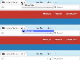 Firefox : Indicateur audio des onglets