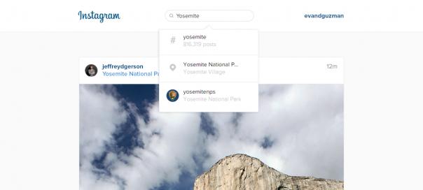 Instagram : La recherche débarque sur le web