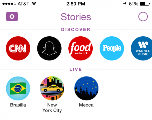Snapchat Discover Stories