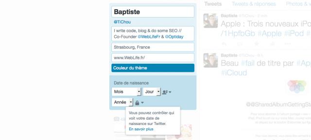 Twitter : Date de naissance