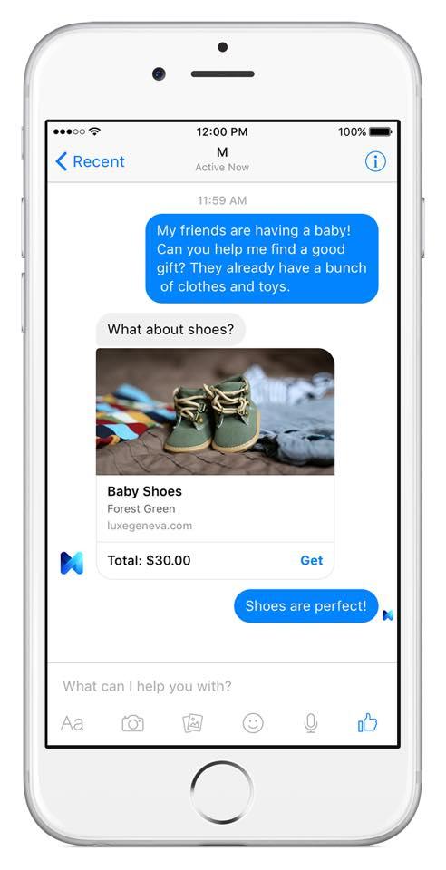 Facebook M : Achat de produit