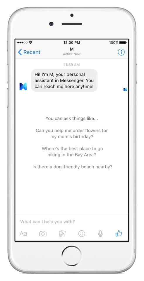 Facebook M : Assistant personnel