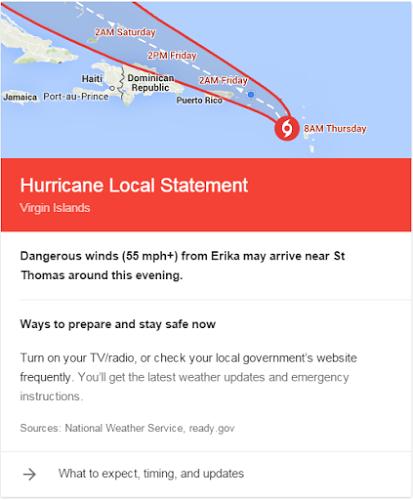 Alertes Google Ouragan