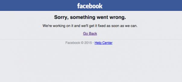 Facebook : Down pour la seconde fois en une semaine