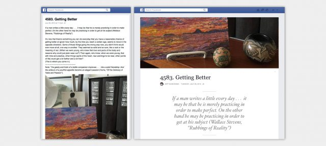 Facebook Notes : Article de blog