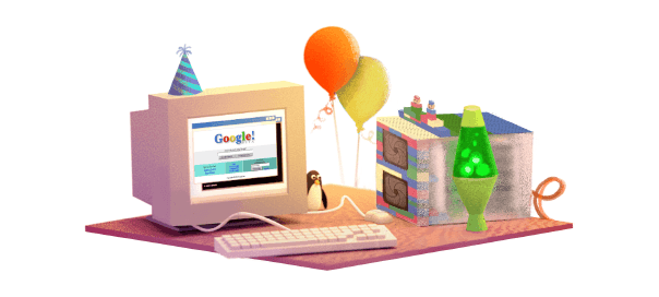Google : 17e anniversaire de Google en doodle