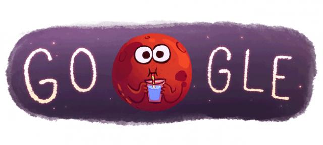 Google : Doodle Eau sur Mars