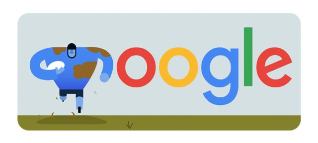 Google : Doodle rugby - Coupe du monde