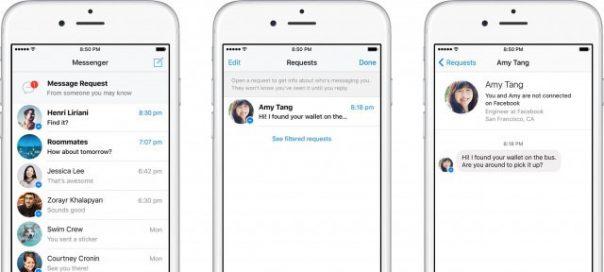 Facebook : Introduction des demandes de prise de contact