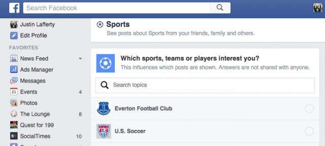 Facebook : Fils thématiques