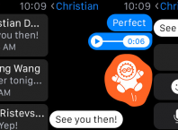 Facebook Messanger : Application Apple Watch