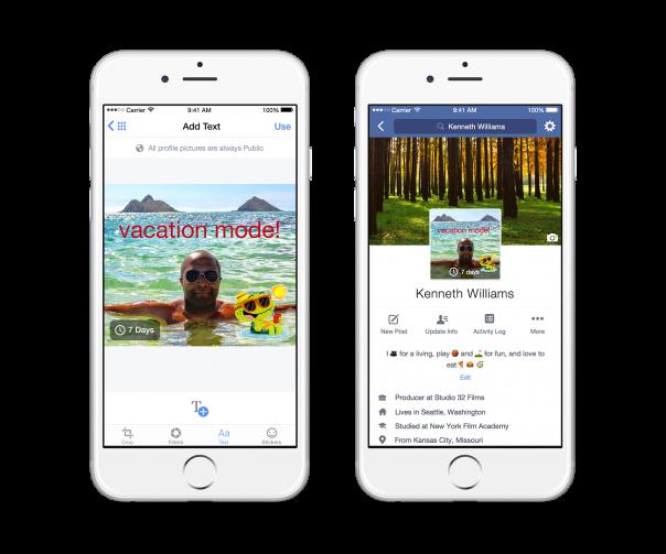 Facebook : Profil vidéo - Photo éphémère