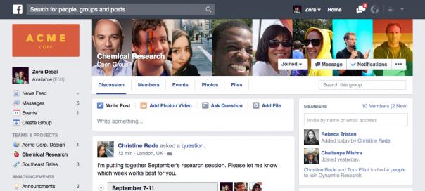 Facebook at Work : 100 000 employés concernés chez RBS