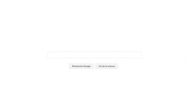 Google : Page d'accueil blanche