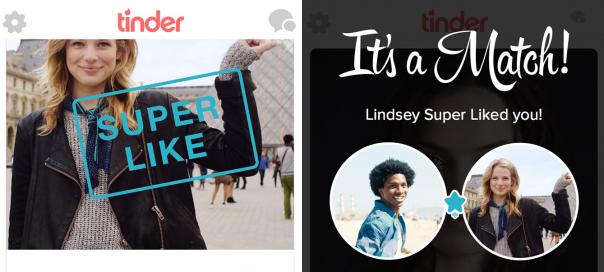 Tinder : Le Super Like pour les coups de foudre