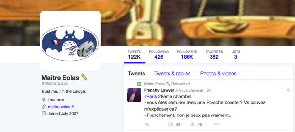 Twitter : Maitre Eolas disparaît du réseau social