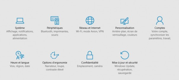 Windows 10 : Suppression du panneau de configuration