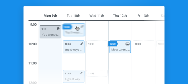 Buffer : Calendrier de publications