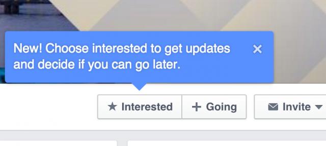 Facebook : Evènement - Intéressé