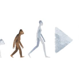 Google : Lucy l'australopithèque en doodle