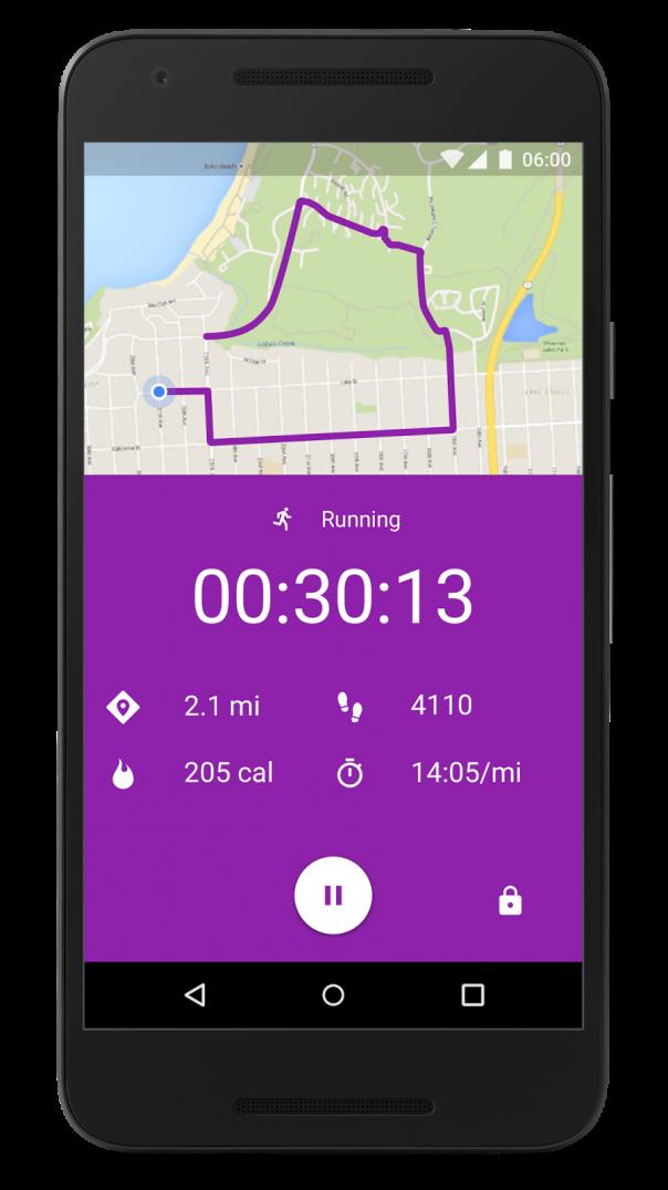 Google Fit : Données de l'activité sportive