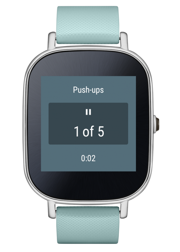 Google Fit : Workout depuis Android Wear