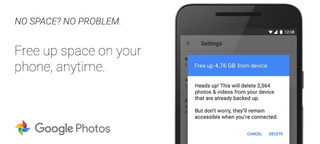 Google Photos : Suppression du smartphone