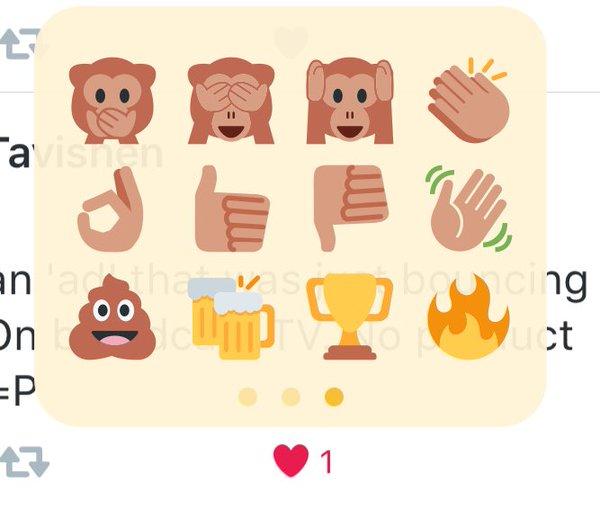 Twitter : Emojis Like 3