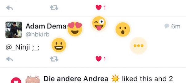 Twitter : Emojis Like