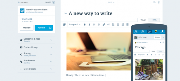 WordPress : Un éditeur plus flexible et rapide