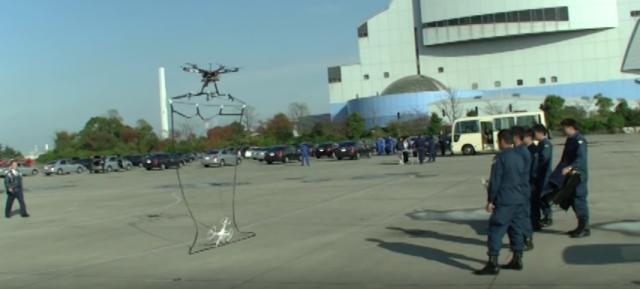 Drone : Capture par filet
