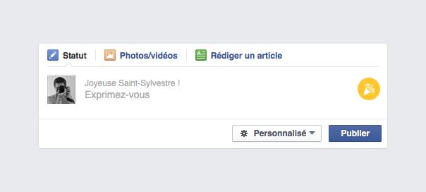 Facebook : Joyeuse Saint-Sylvestre dans votre statut